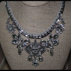 Deco Crystal Cluster Drama Necklace